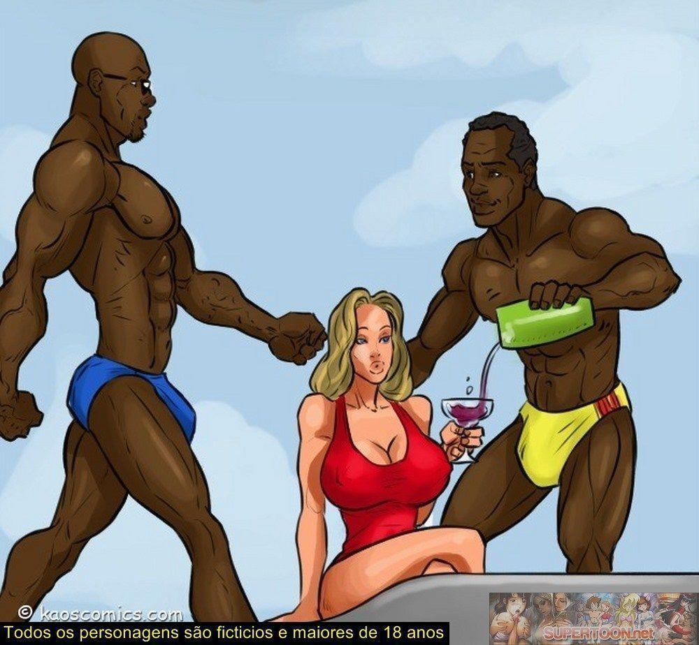 conspiração do bikini - quadrinhos eroticos interracial - 03010