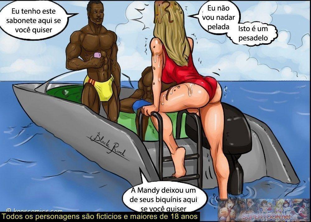 Conspiração do bikini - quadrinhos eróticos interracial0442