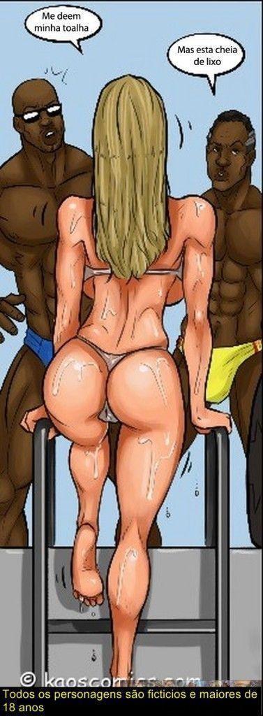 Conspiração do bikini - quadrinhos eróticos interracial0481