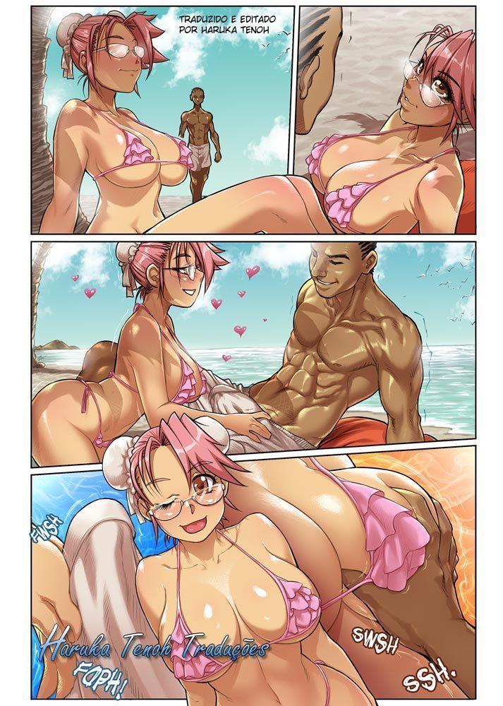 Sexo na praia - manga hentai