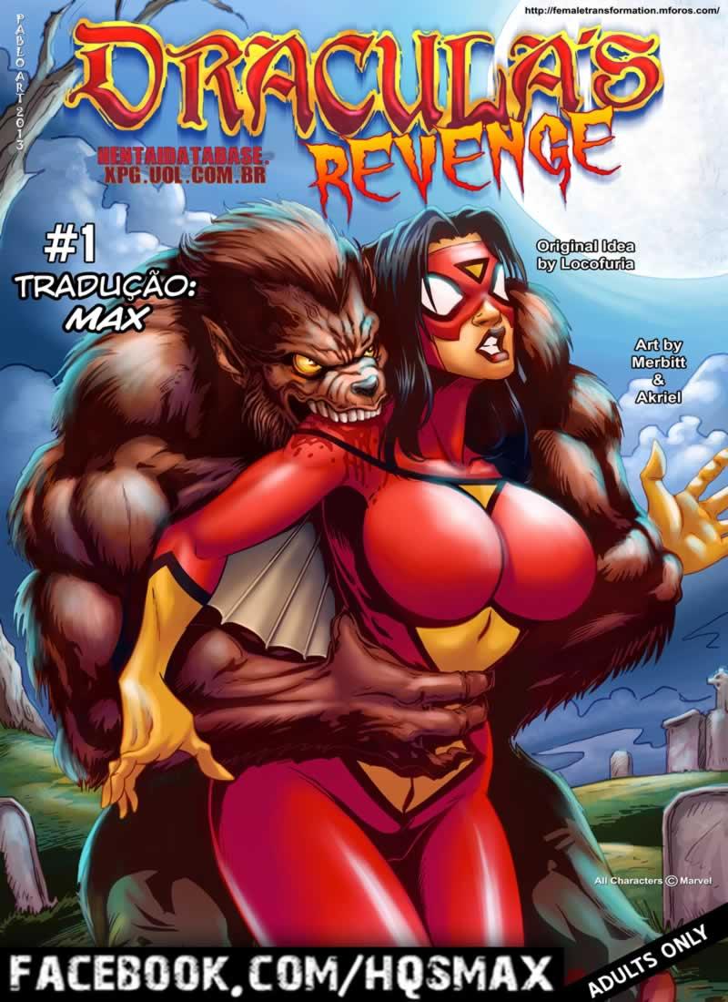 Mulher aranha contra dracula - quadrinhos eroticos
