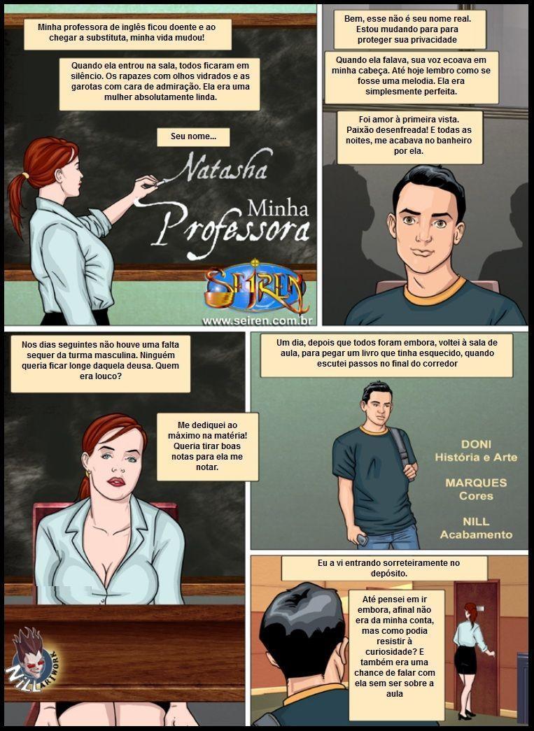 Professora gostosa - quadrinhos eróticos